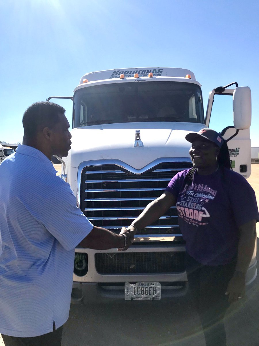 In Albany, GA today meeting with some awesome truck drivers and business leaders. Now, more than ever, we are thankful for the work you do to keep things MOVING through Georgia!
