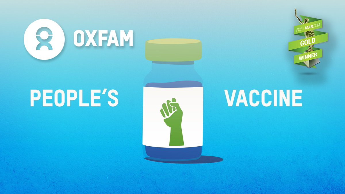 The People's Vaccine piece I produced for @OxfamAmerica won a @MarCom_Awards Gold Award. Excited to see this piece and it's message recognized! #PeoplesVaccine   Watch here: youtu.be/KVSE-fxsQkI