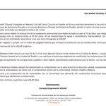 Image for the Tweet beginning: A la opinión pública: