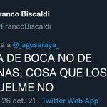 Image for the Tweet beginning: hincha de boca no de