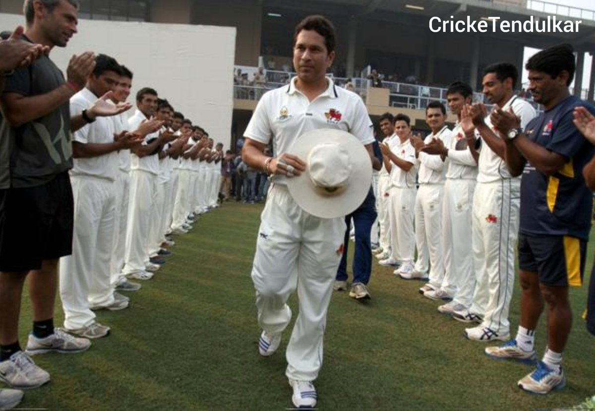 Beginning of the End of an 'SACHIN ERA'.😭  Day 1: #OnThisDay in 2013 LAST RANJI MATCH of @sachin_rt's career Started at Lahli (Rohtak) between Mumbai & Haryana.  Massive Crowd Came Just to watch SRT That 8000 capacity little Lahli stadium fully packed.  Madness For Sachin.🐐 https://t.co/PGZB5qpLhg