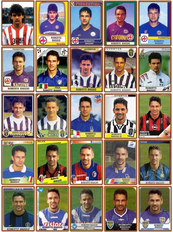 RT @90sfootball: Roberto Baggio's career in football stickers. https://t.co/fiEwkK6Idi