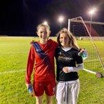 Congrats to @SurbitonHigh 1st XI players, Kate and Greta, on making their @isfafootball National Team debuts yesterday! 👊🏼 #SHSFootball