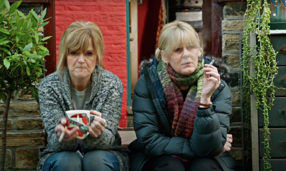You two have been missed. welcome back!🥰  #HappyValley #SarahLancashire #siobhanfinneran #sallywainwright https://t.co/mW6oRPxe3x