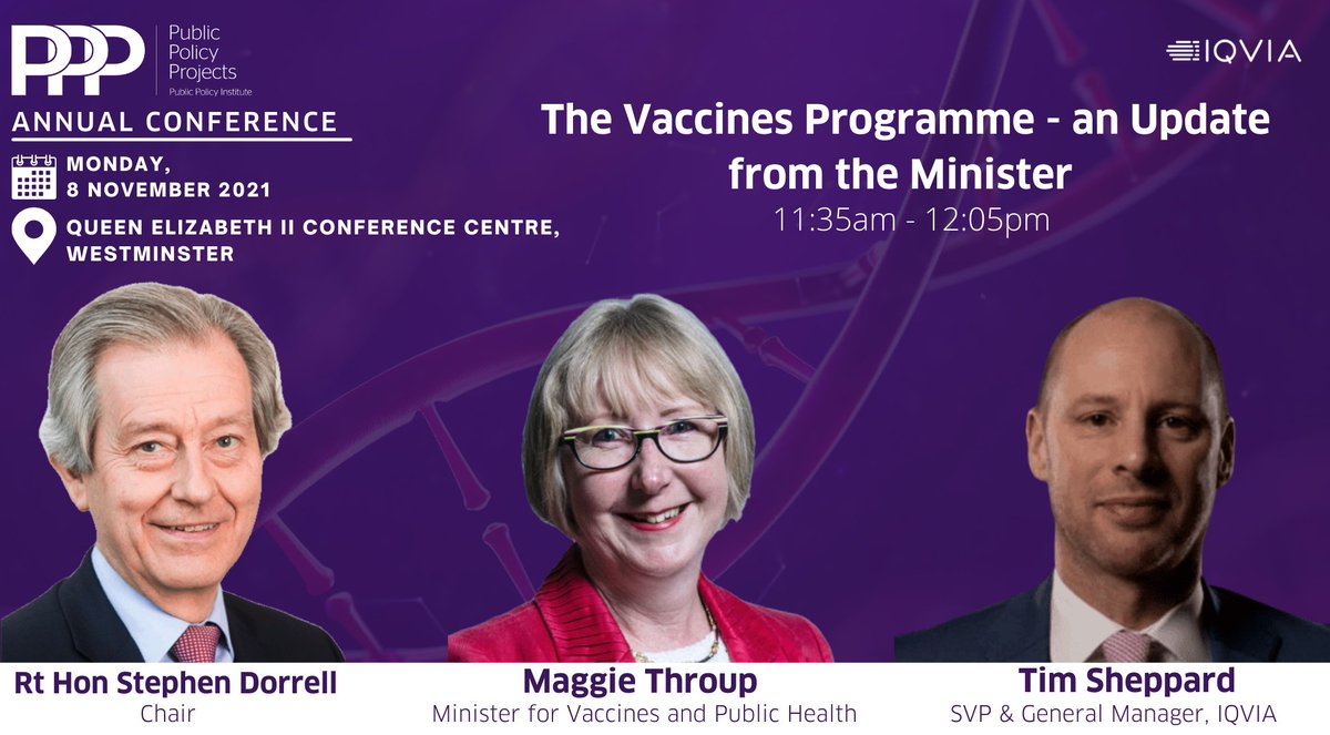 test Twitter Media - Are you coming to our annual conference?   Just one out of many sessions, 'The Vaccines Programme' discussion features the Minister for Vaccines and Public Health, @maggie_erewash, Rt Hon @stephen_dorrell & Tim Sheppard, @IQVIA_UK   Get your ticket here: https://t.co/j91x8emCin https://t.co/EnZBfxuk00