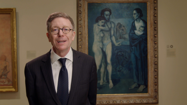 CMA director William Griswold talks about La Vie #BofAMasterpieceMoment... great timing for #PabloPicasso birthday yesterday.