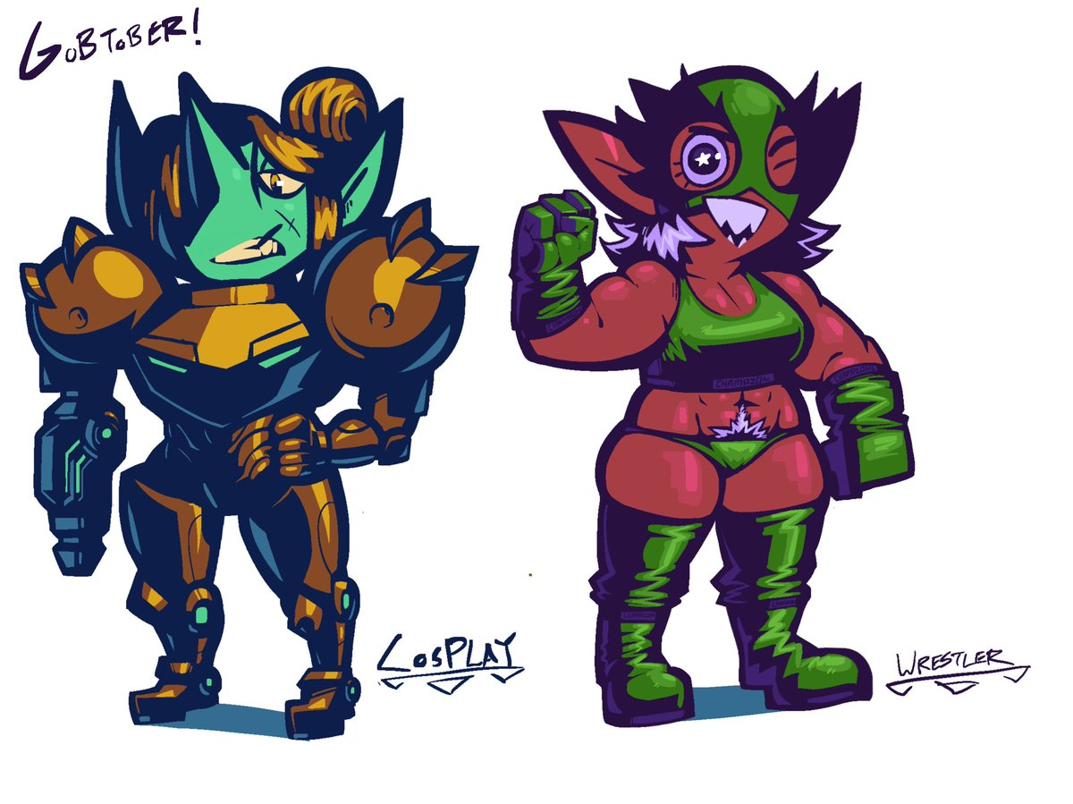 Still sick guys but here's a couple o late goblin arrivals for #gobtober2021