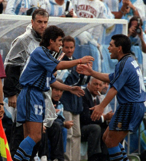 RT @90sfootball: Ariel Ortega and Diego Maradona. https://t.co/ad83V0J8LI