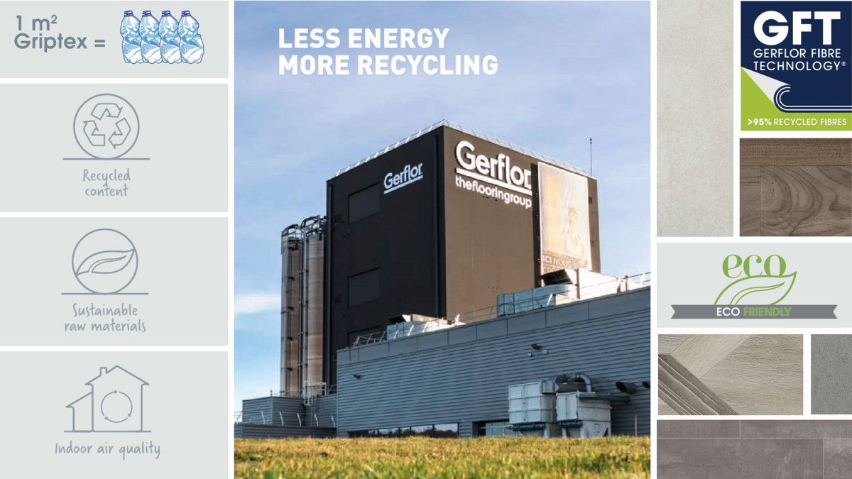 We Care. We Act. The World Class Griptex collection has a unique GFT polyester textile backing made from more than 95% recycled plastic bottles.   Find out more about our #EnvironmentallyFriendly solutions here - https://t.co/s1GOKD3G7G https://t.co/q1lLZDbIQk
