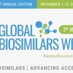 Image for the Tweet beginning: The second #GlobalBiosimilarsWeek, an educational