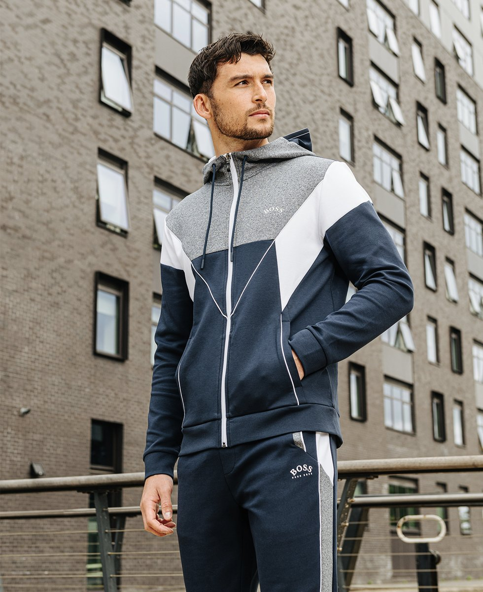 Style and comfort go hand in hand with BOSS tracksuits. Shop here: https://t.co/DsoHI0JJiA #BOSS #BossHugoBoss #DesignerMenswear #AW21 https://t.co/AU2u4ljzuR