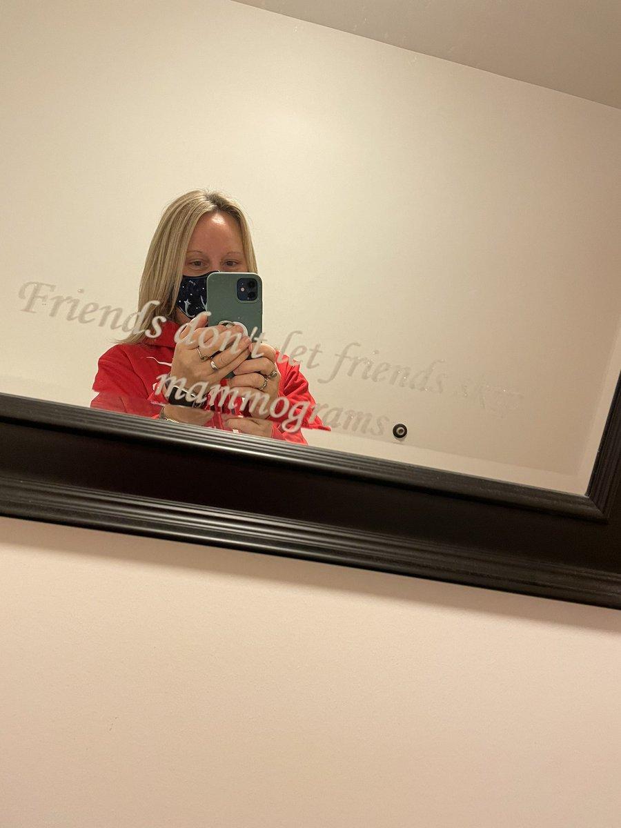 Going in for my mammogram #BreastCancerAwarenessMonth