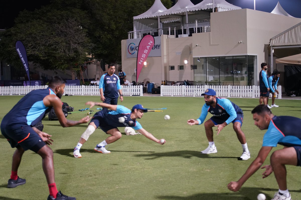We are back!  A fun drill to start our session. #TeamIndia #T20WorldCup https://t.co/lCmla6hcfT