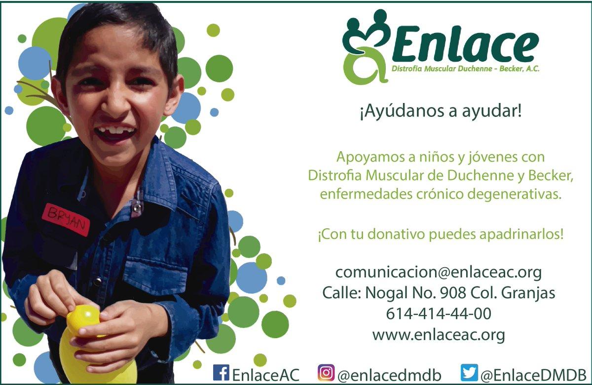 RT @EnlaceDMDB: 📢 ¡Te invitamos a nuestro Programa Padrinos! 🥳 #YoSoyEnlace 💚 #DistrofiaMuscular https://t.co/7mlBYuPg2H
