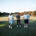 Image for the Tweet beginning: Hitting holes with the pros