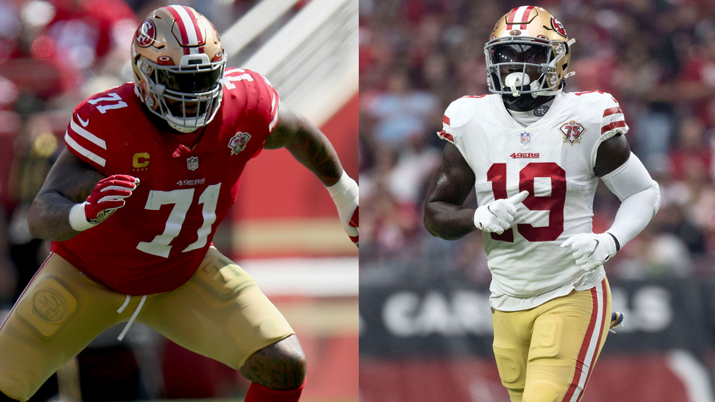49ers LT Trent Williams (ankle/elbow), WR Deebo Samuel (calf) DNP on Wednesday  https://t.co/nCciefGp35 https://t.co/at4BkGLSfU