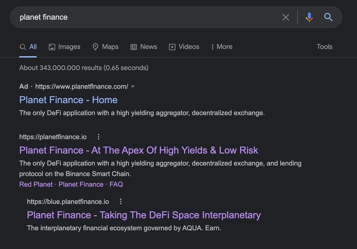 Tweet by @planet_finance