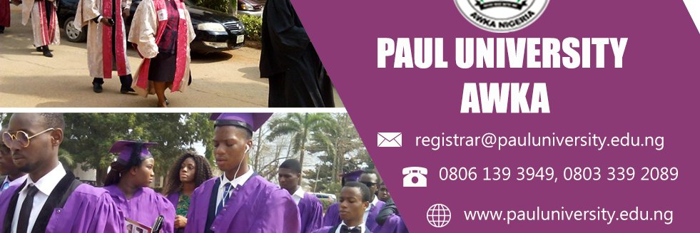 Paul University's official Twitter account