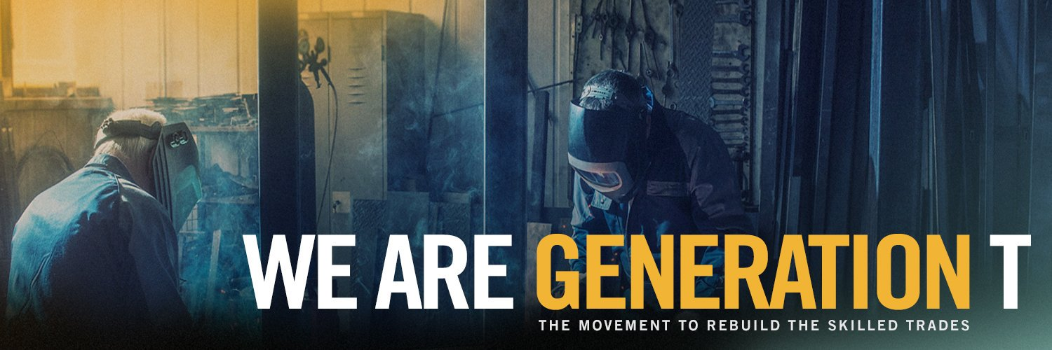 Partnering with industry, nonprofit and government leaders to help promote one of the fastest-growing industries: the skilled trades. #generationT 🛠