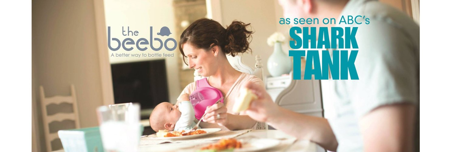 A free hand baby bottle holder designed to enhance bottle feeding time; read to your baby, eat while your baby eats. The Beebo - a better way to bottle feed!
