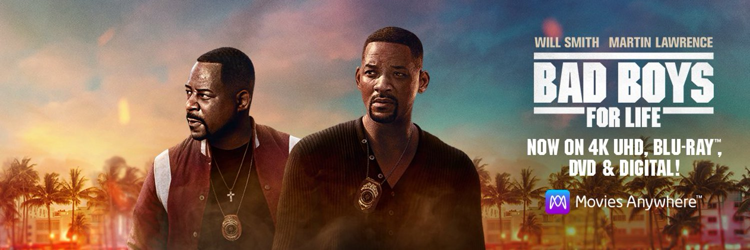 #BADBOYSFORLIFE, starring Will Smith and @RealMartyMar, on Digital, 4K UHD, Blu-ray & DVD NOW!