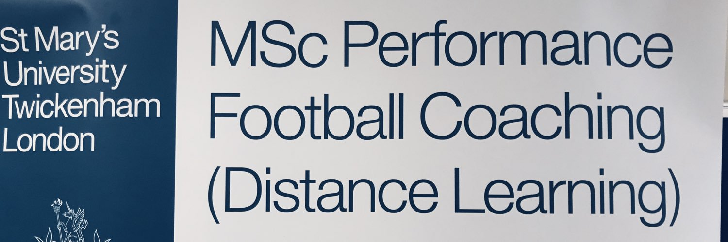 Official twitter feed for St Marys University MSc Performance Football Coaching (Distance Learning)