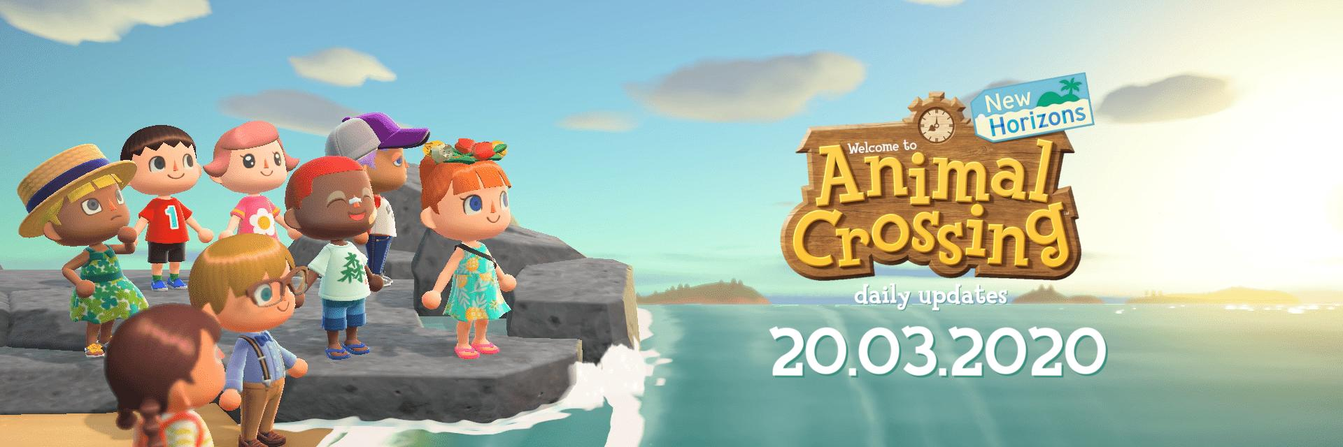 31/07/2019 - update 275 Animal Crossing New Horizons will be released for Nintendo Switch on March 20, 2020. -233 d… twitter.com/i/web/status/1…