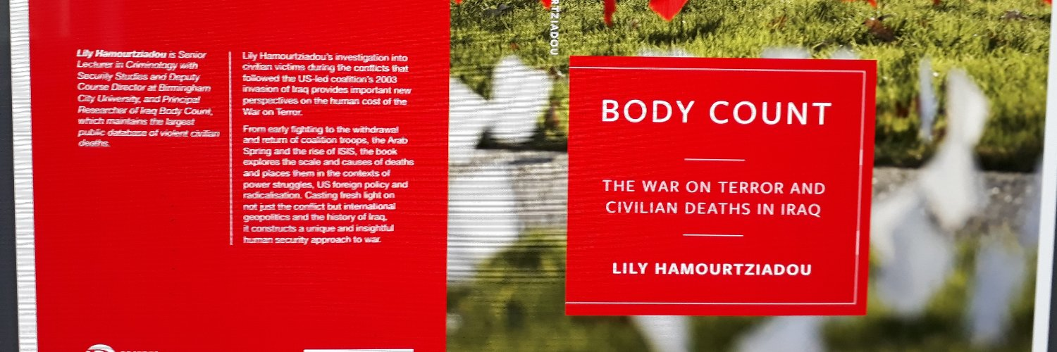 My book is out. In memory of both dead and living in failed states, war zones and occupation. With thanks to those… https://t.co/qQm7w7gATc
