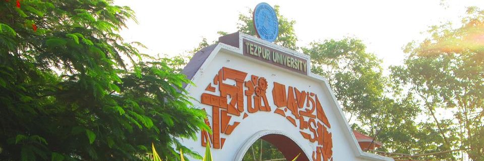Tezpur University's official Twitter account