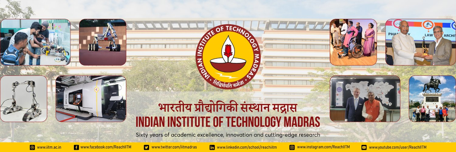 Indian Institute of Technology Madras's official Twitter account