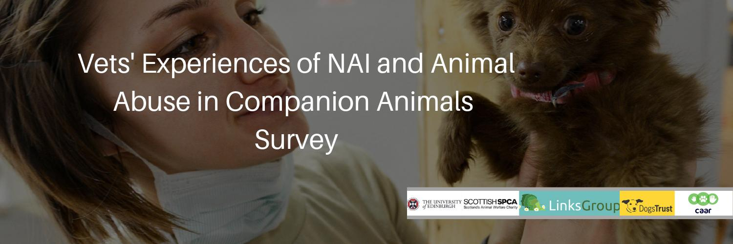 .@EdinburghUni is carrying out vital work with @ScottishSPCA @DogsTrust @TheLinksGroup to identify Vets Experiences of Non-Accidental Injuries & Abuse in Companion Animals. Help us share the survey here: edinburgh.onlinesurveys.ac.uk/vets-experienc… … #AnimalAbuse