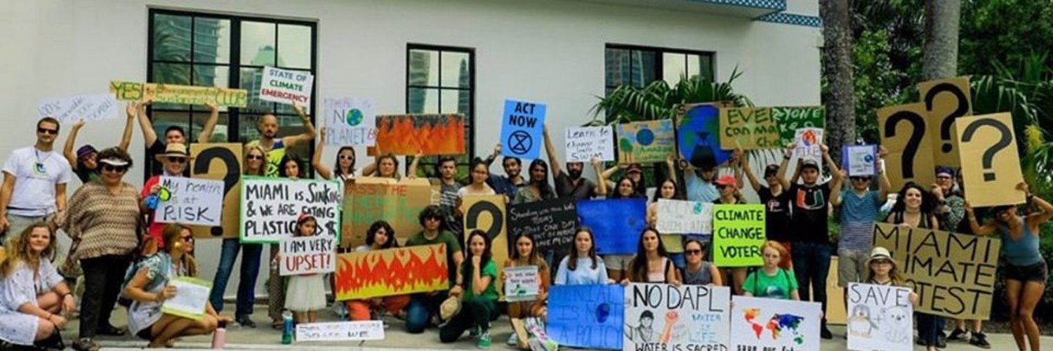 Fridays for Future Miami focuses on coordinating peaceful climate strikes in Miami, FL. We're striking EVERY FRIDAY from 4 - 6 P.M. at Miami Beach City Hall!