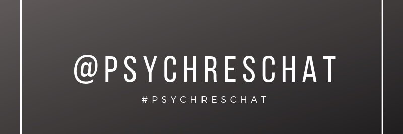 If you'd like to co-moderate an upcoming chat, please DM us with your topic and discussion questions! #PsychResChat