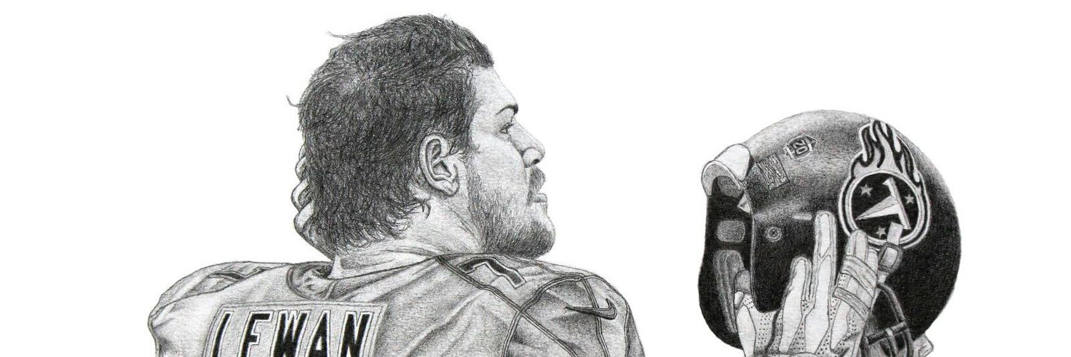 Huge @Titans fan Hand-drawn NFL pencil art by Michael Sillandy @moikeunderscore SHOP LINK BELOW