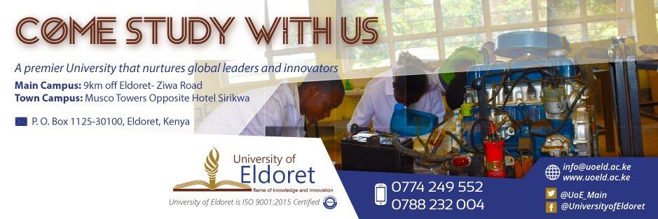 University of Eldoret's official Twitter account