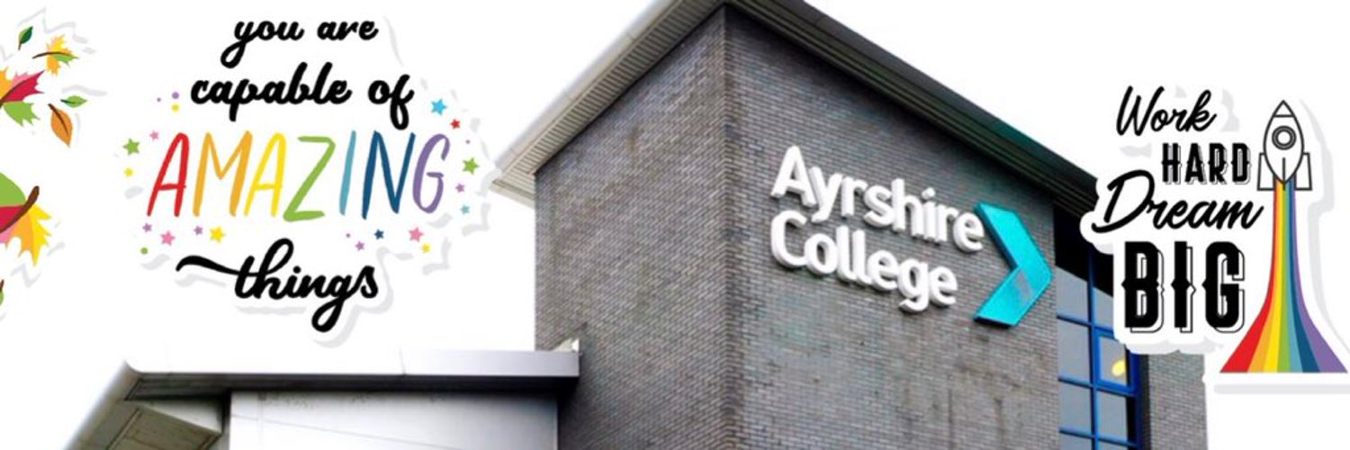 Ayrshire College, Early Years department at Kilwinning Campus. Follow us for ideas, inspiration and innovative practice in FE and ELC.