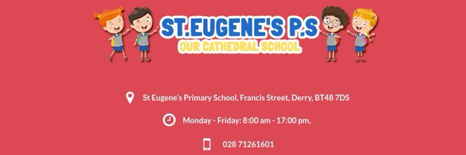St. Eugene's PS - Our Cathedral School. Located in the heart of Derry City. Our School, Your child, Their Success.