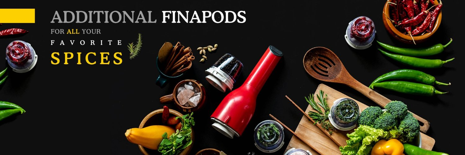 FinaMill is the easy way to elevate your cooking with the bold flavor of freshly ground spices at the push of a button.