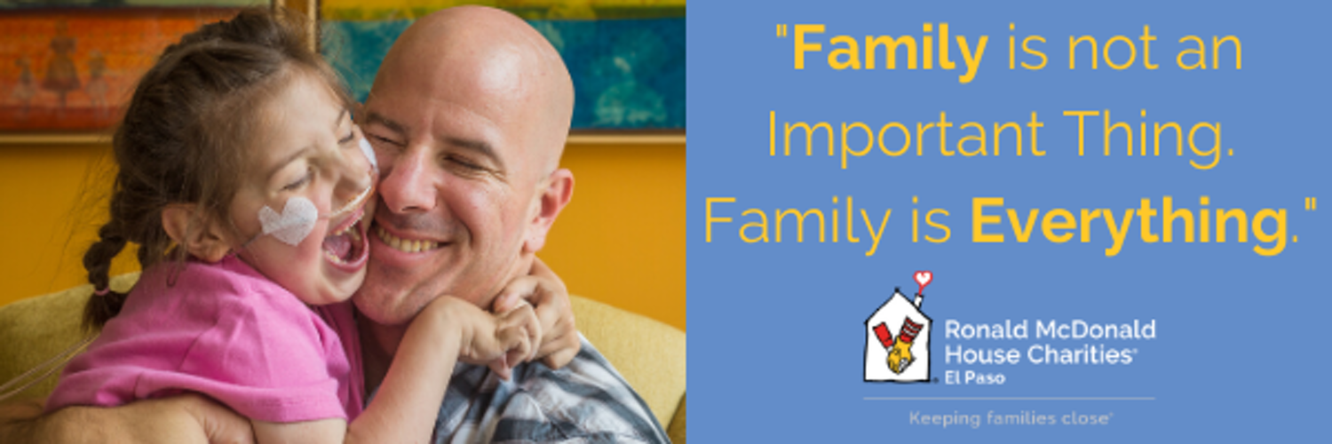 #KeepingFamiliesClose providing remarkable programs for families with seriously ill or injured children. Engage: on FB and IG @ rmhcelp 915.542.1522.