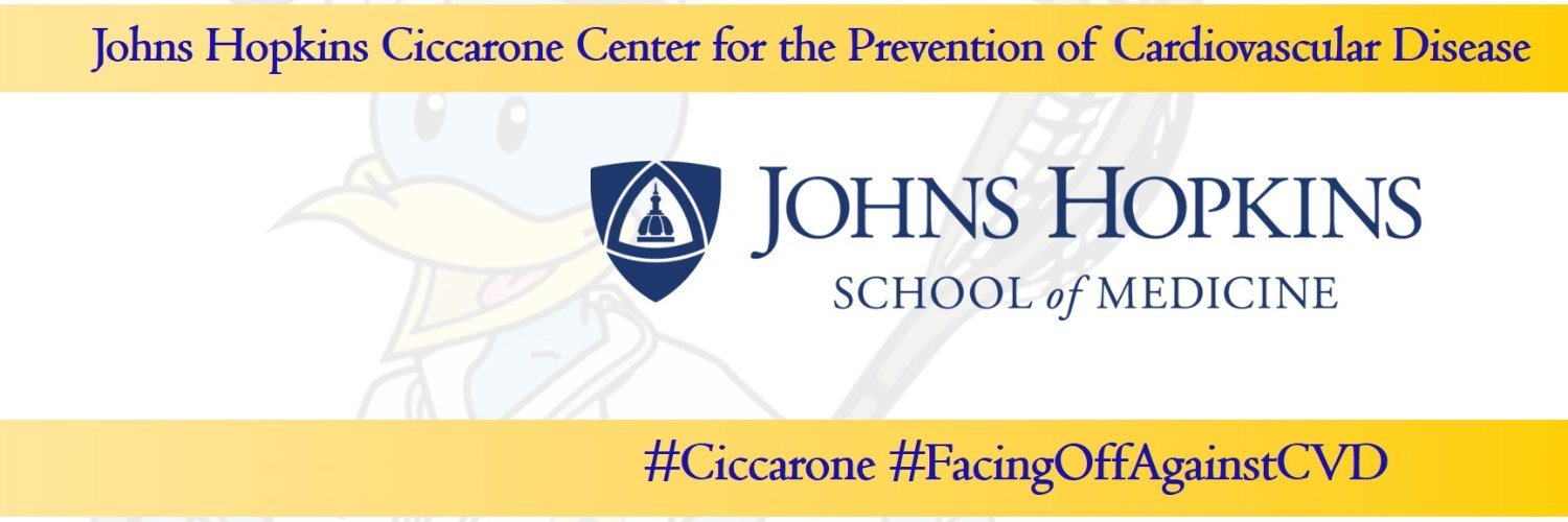Official Twitter account of the #Ciccarone Center for the #Prevention of Cardiovascular Disease at @HopkinsMedicine and @JohnsHopkins #FacingOffAgainstCVD