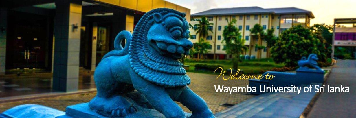 Wayamba University of Sri Lanka's official Twitter account