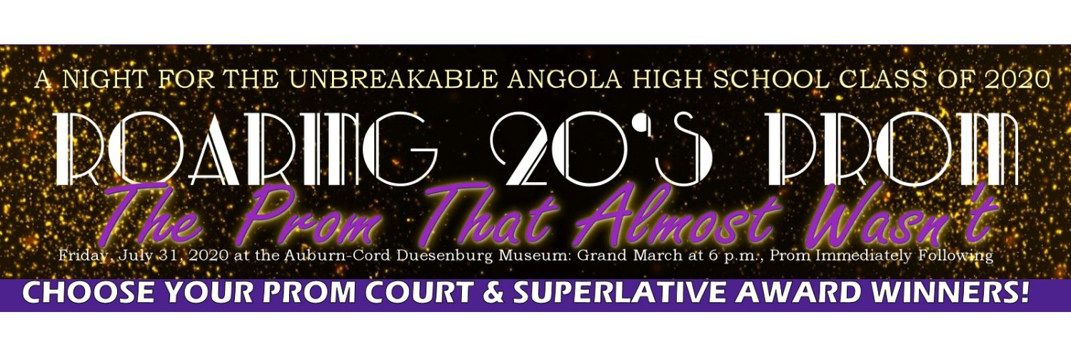 We are a group of parents and community members who have come together to throw the Angola High School juniors and seniors a Prom, after theirs was cancelled...