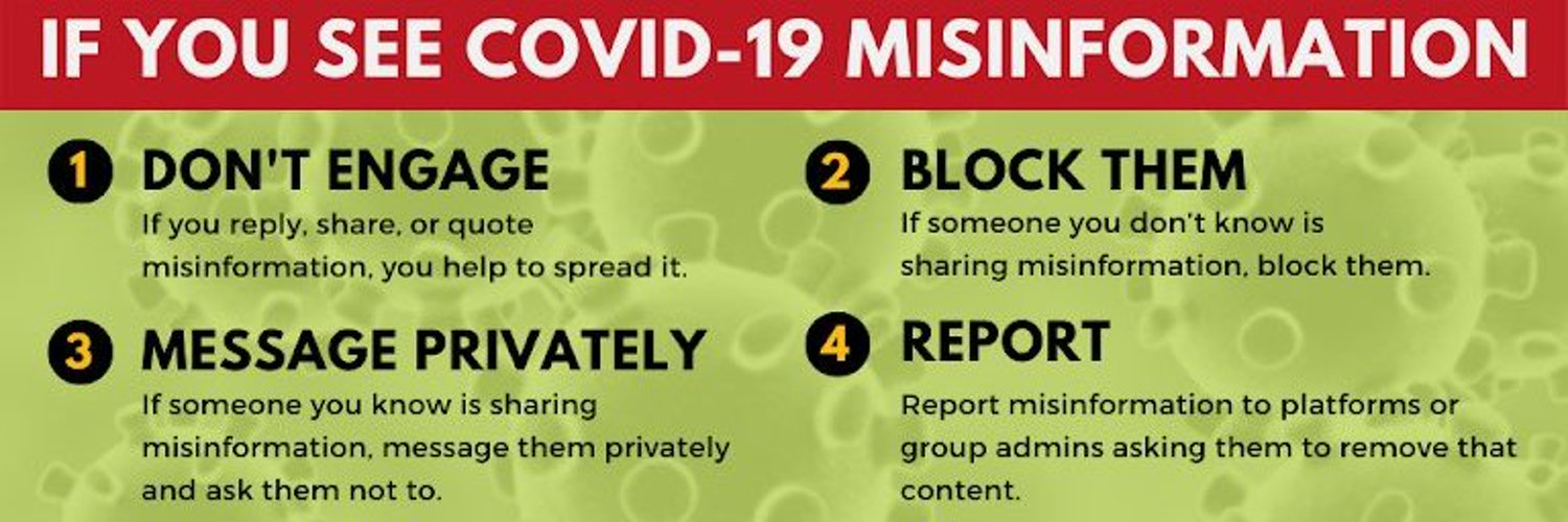 Countering COVID-related misinformation. Volunteer-run account promoting #DontSpreadTheVirus