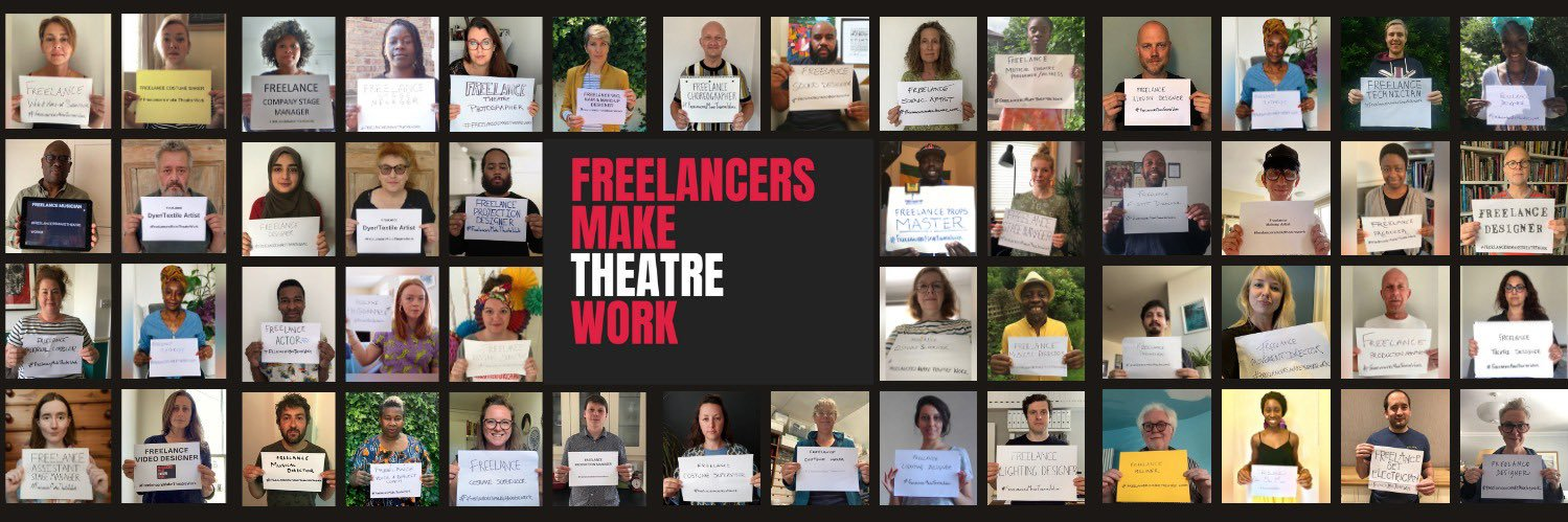 FREELANCERS MAKE THEATRE WORK-a collective to advocate for the UK theatre workforce. We aim to encourage more trans… https://t.co/elst8SMlVW