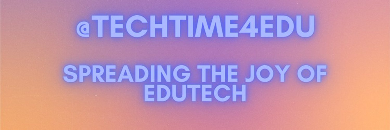 We are TechTime4EdU. 4 Elementary Educators Passionate about all things tech.@deanna_palmer15 @toadmummy @maxtrottier @ms_park7