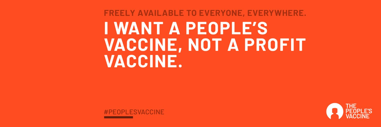 The People's Vaccine (@peoplesvaccine) on Twitter banner 2020-07-10 12:13:17