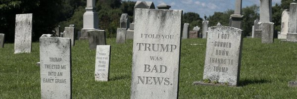 Tombstones for Trump Profile Banner
