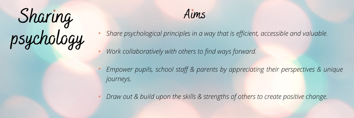 Educational Psychologist- Applying solution focused and positive psychology to empower schools and organisations. Info@SolutionFocusedPsychology.co.uk