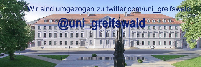 Ernst-Moritz-Arndt-Universität Greifswald's official Twitter account