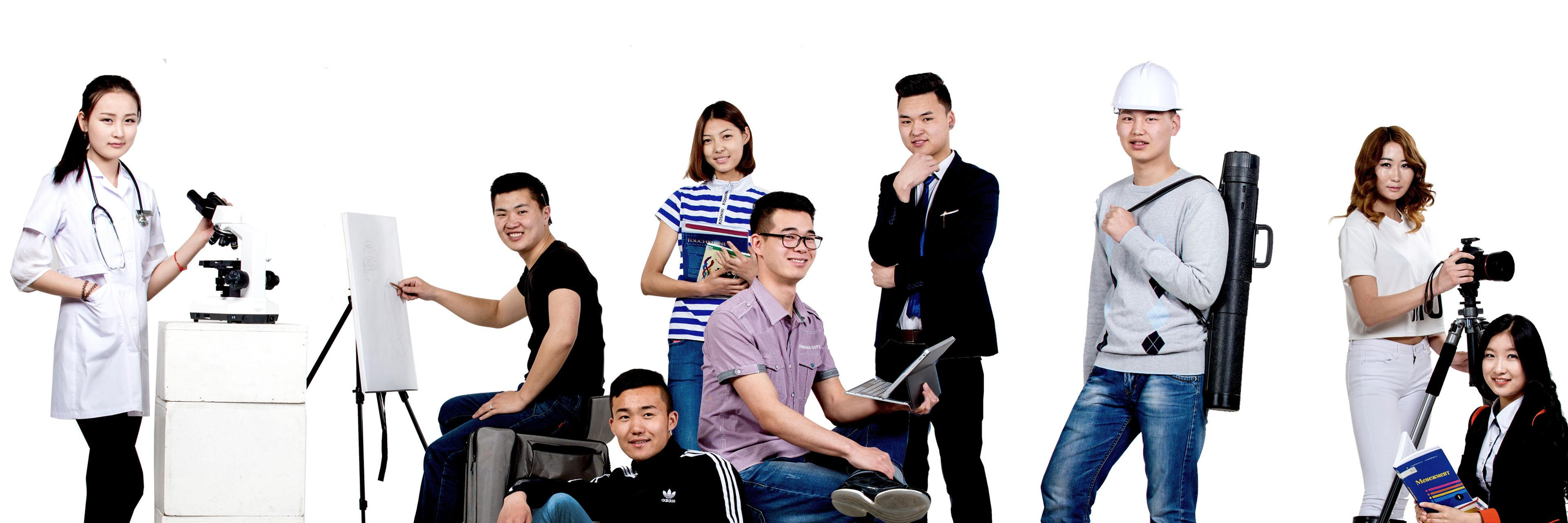 Mongolian National University's official Twitter account